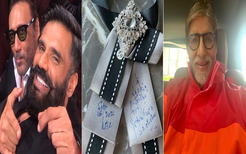 Kaun Banega Crorepati 13: Amitabh Bachchan Leaves Suniel Shetty 'Wonderstruck' By His 'Knowledge And Discipline'; Megastar Also Gifts Jackie Shroff A Tie-Bow