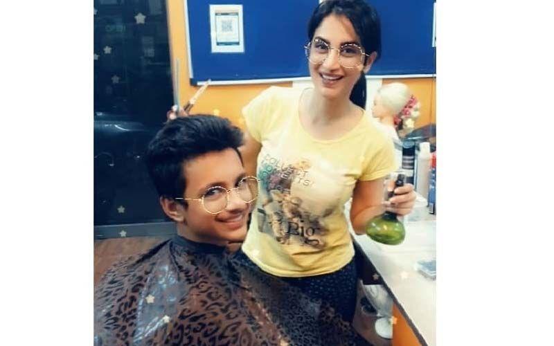 Smita Gondkar Turns To Hairdressing For Her Nephew Amidst Lockdown