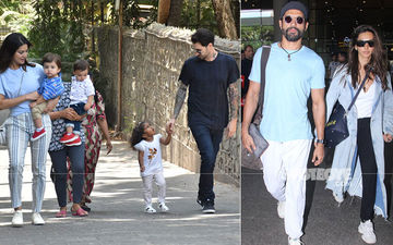 Celeb Spotting: Sunny Leone Chills With Hubby And Kids, Farhan-Shibani Return From Their European Sojourn