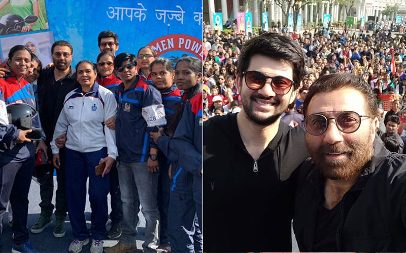Sunny Deol And His Son Karan Flagged Off An All Women's Bike Rally In Delhi