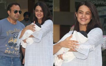 Surveen Chawla Takes Her Darling Daughter Eva Home