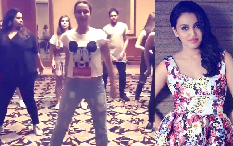 Leaked Video: Swara Bhasker's Last Minute Dance Rehearsals For Bestie Sonam Kapoor's Sangeet