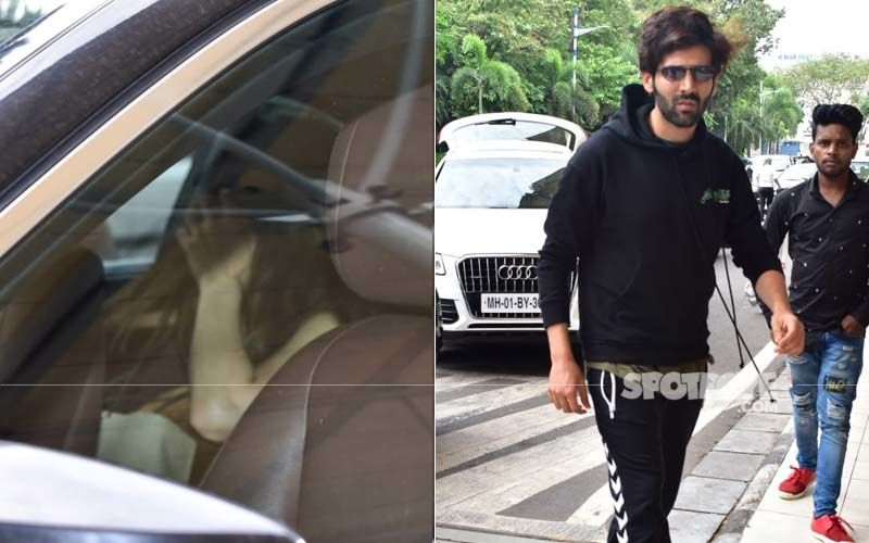 Sara Ali Khan Plays Hide-And-Seek With Paps As She Drops Kartik Aaryan At The Airport