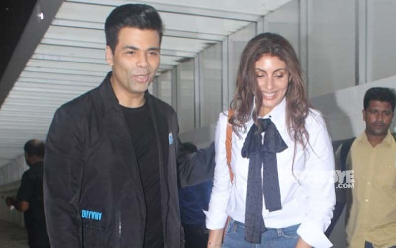 Shrouded In Controversy Over His Saturday-Night Video, KJo Steps Out For Dinner With Shweta Bachchan Nanda