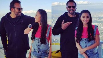 Khatron Ke Khiladi 10: Rohit Shetty Plays Trivia With Tejasswi Prakash, But Not Without Hanging Her Upside-Down - PIC
