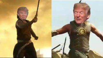 Donald Trump Turns Baahubali Ahead Of His Visit To India, Replies To Fan Video , Exclaims, 'Looking Forward To Being With Indian Friends' - VIDEO