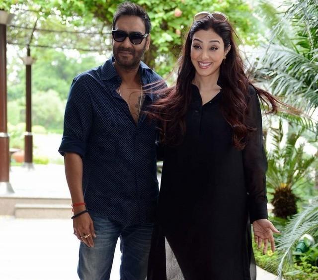 Tabu and Ajay Devgn