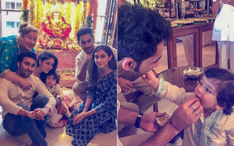 Taimur Ali Khan Celebrates Ganesh Utsav With Love And Mithai: Pics And Videos