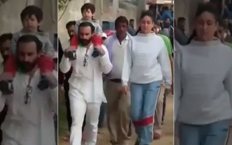 Taimur Ali Khan Takes A Tour Of Pataudi Village With Saif Ali Khan And Kareena Kapoor Khan- Watch Videos