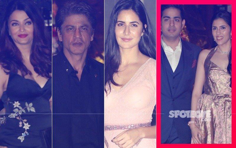 Aishwarya Rai, Shah Rukh Khan, Katrina Kaif & More At Akash Ambani's Post Engagement Bash