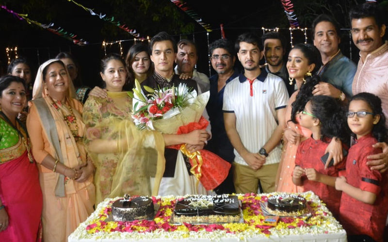 Mohsin Khan Celebrates Birthday With Shivangi Joshi And Family On-The-Sets Of Yeh Rishta Kya Kehlata Hai- View Pics
