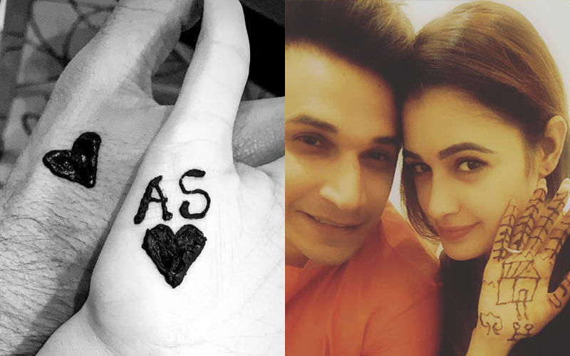 Sonam Kapoor-Anand Ahuja Flaunt Their 1ST Karwa Chauth Mehendi; Prince Narula Applies It On Yuvika Chaudhary's Hands