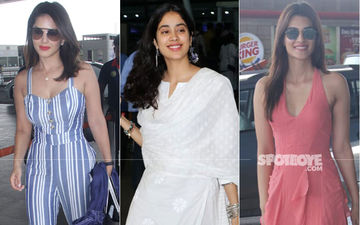 Sunny Leone, Janhvi Kapoor Or Kriti Sanon- Which Diva's Airport Look Impressed You The Most?