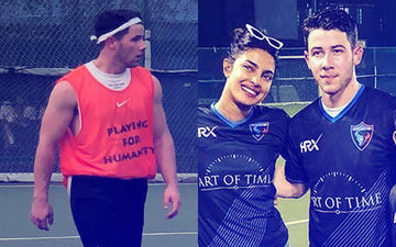 Priyanka Chopra's 'Bae' Nick Jonas Plays Football For Humanity