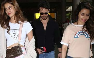 Disha Patani Makes A 'Love Triangle' Comment As She Exits Airport With Tiger Shroff - Shraddha Kapoor, Sense Sarcasm? Watch