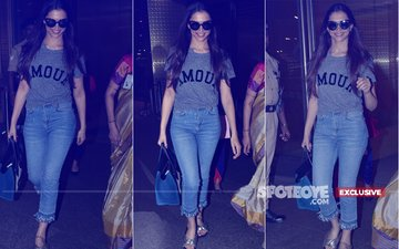 Deepika Padukone Flashes Her Million Dollar Smile As She Exits Mumbai Airport