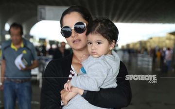 Airport Spotting: Sania Mirza's Cutie-Patootie Son Looks Like A Cupcake In These Pictures