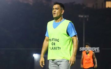MS Dhoni Sweats It Out On The Field; Ditches Bat And Ball To Play Football For A Cause
