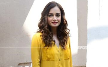 Dia Mirza Just Wore A Bright Mustard Outfit To Work; Stand And Stare Y'all