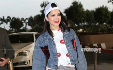 Sunny Leone's Airport Look Sends Out Christmas Vibes; Ho, Ho, Ho