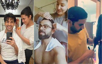 Divyanka Tripathi, Anushka Sharma, Rajkummar Rao And Other Celebs Who Gave Their Partners A Brand New Haircut Amid Lockdown-PICS