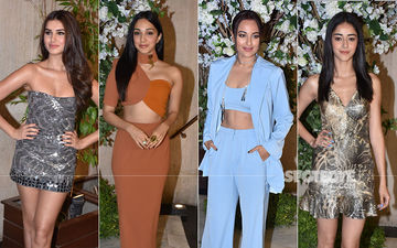 Sonakshi Sinha, Kiara Advani, SOTY 2 Actresses Ananya Panday-Tara Sutaria Turn Glam Dolls At Manish Malhotra's Dinner Party