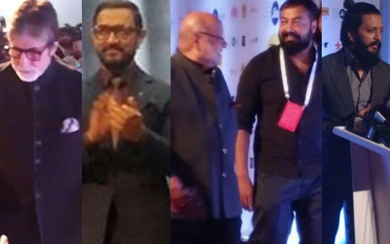 Amitabh Bachchan, Aamir Khan, Anurag Kashyap, Riteish Deshmukh, Shyam Benegal Walk The Red Carpet At The 18th Jio MAMI Film Festival