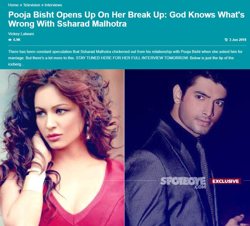 Pooja Bisht Lashes Out: Ssharad Malhotra Has Fu**ed Up His Image
