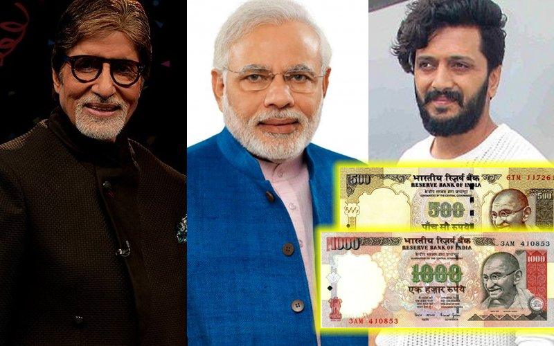 Bollywood Reacts To Narendra Modi's Ban Of Rs 500 & Rs 1000 Notes