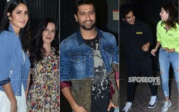 Bhoot Screening: Katrina Kaif With Sister, Ananya Panday With Ishaan Khatter Come In To Support Vicky Kaushal