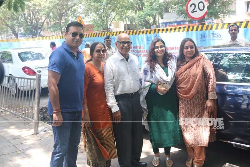 Vidya Balan with her Family