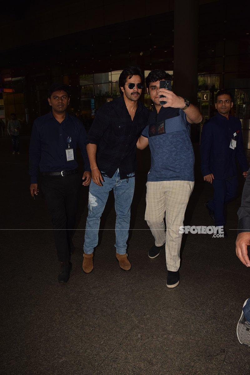 Varun Dhawan Clicks A Selfie With A Fan