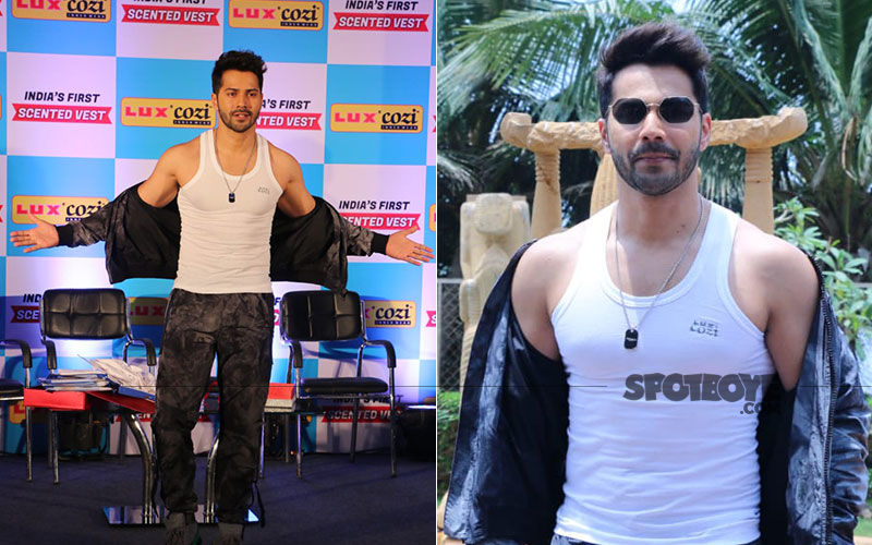 Varun Dhawan Promotes New Range Of Scented Vest In These Pictures