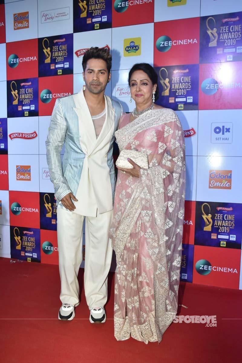 Varun Dhawan With Hema Malini