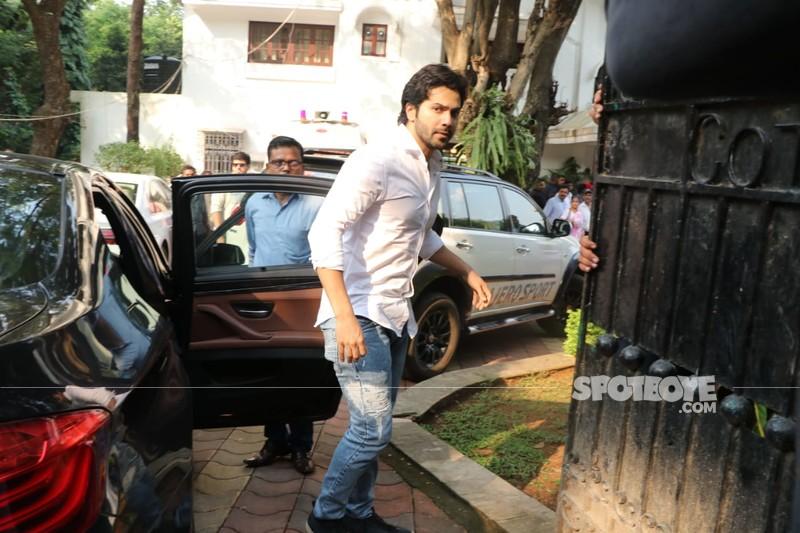 Varun Dhawan At Krishna Raj Kapoors Residence