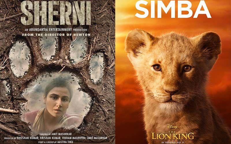 A Netizen Spots Similarity In Vidya Balan Starrer Sherni's Poster And Simba's Iconic Footstep Scene