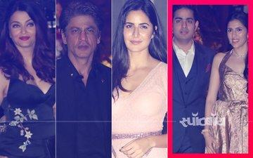 आकाश अम्बानी की पोस्ट-सगाई पार्टी में पहुंचे शाहरुख़ खान, ऐश्वर्या राय बच्चन, कैटरीना कैफ और कई सितारे