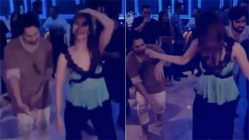 Video: Varun Dhawan & Vaani Kapoor Burn The Dance Floor At Bhumi Pednekar's Party
