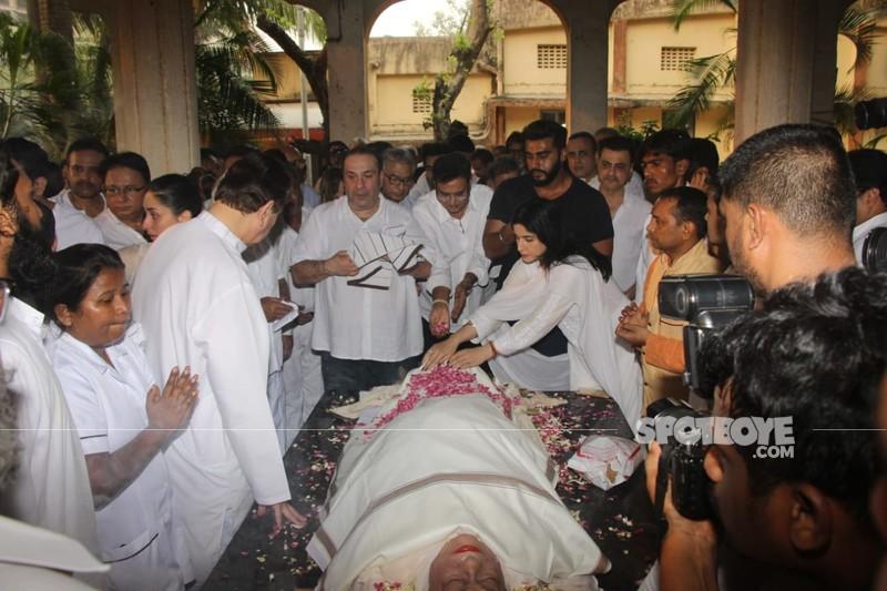 krishna raj funeral
