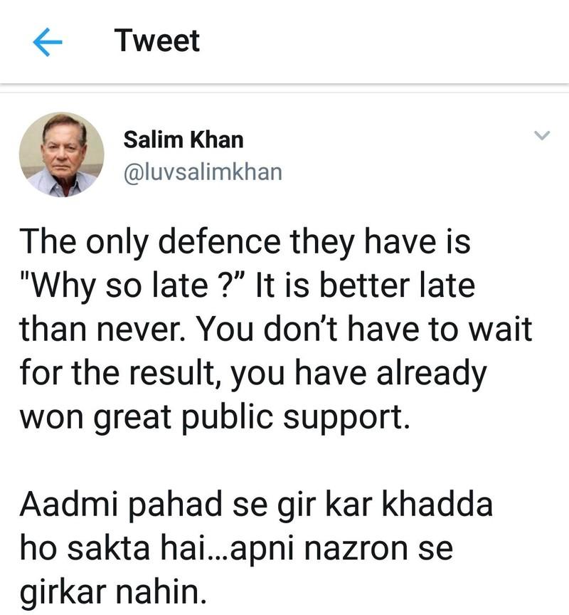 salim khan tweet