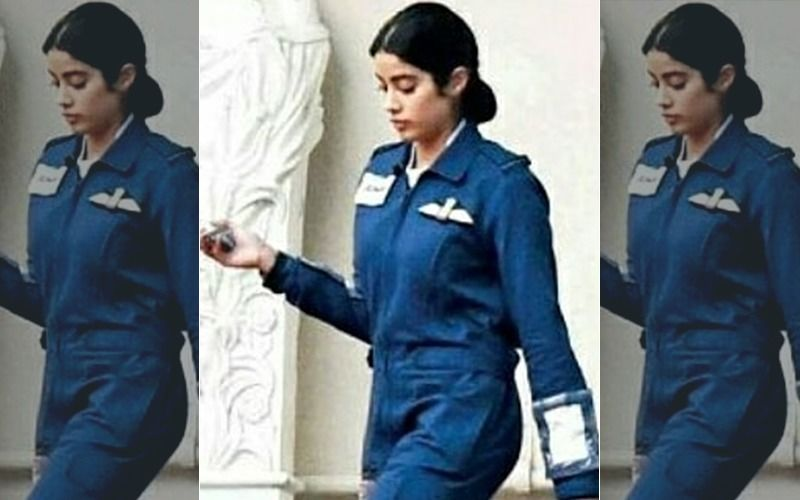 Janhvi Kapoor's First Look As IAF Gunjan Saxena Leaked!