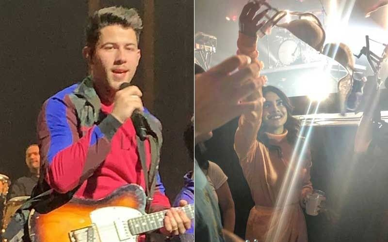 Nick Jonas' Fan Throws Bra At Him During Concert, Priyanka Chopra Hands It Over To Hubby- Video