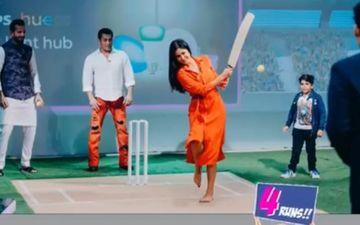 Ahead Of The Big World Cup Game, Salman Khan-Katrina Kaif Play Cricket- See Pics