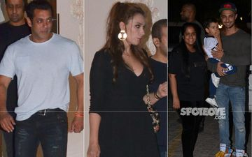Salman Khan And Iulia Vantur Party It Up With Arpita And Aayush Sharma At Arbaaz Khan's Residence – View Pics