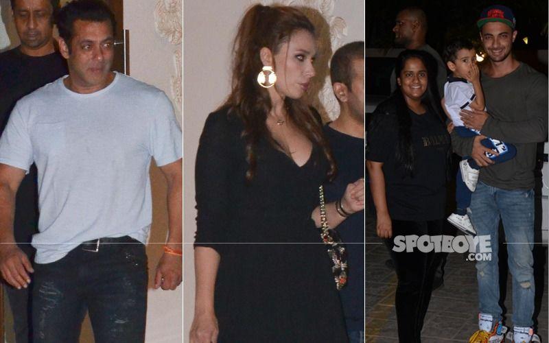 Salman Khan And Iulia Vantur Party It Up With Arpita And Aayush Sharma At Arbaaz Khan's Residence – View Pics