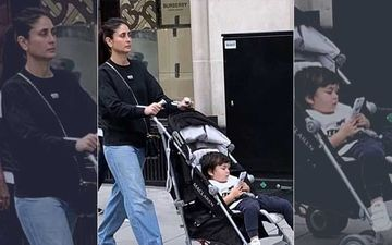 Taimur Ali Khan Relaxes In A Stroller As Mommy Kareena Kapoor Khan Takes Him Around London Town