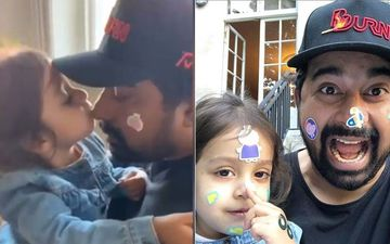 Rannvijay Singha's Daughter Showers Him With Adorable Kisses As She Removes Funky Stickers From His Face