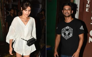Sushant Singh Rajput And Rhea Chakraborty's First Outing As A Couple. Check Out Their Date Night Pics