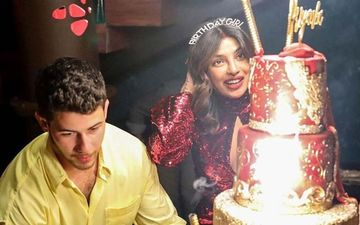 Priyanka Chopra's Three Tier Cake Is All Things Gold But She Flaunting Her Sindoor Has Caught Our Eyes