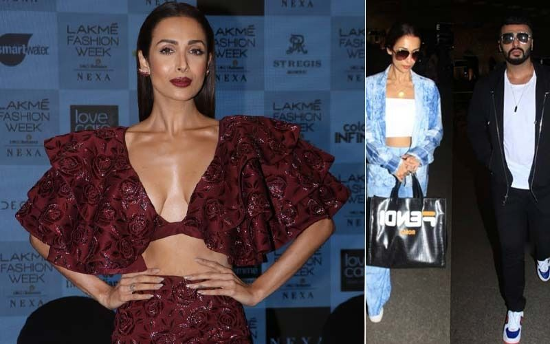 After Slaying At LFW 2019 In A Dangerously Low Neckline, Malaika Arora Heads Out Somewhere Special With Arjun Kapoor